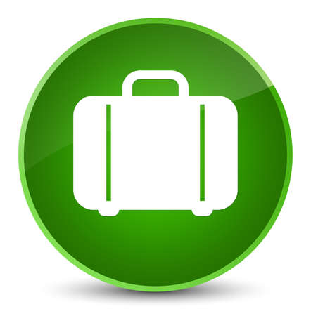 Bag icon isolated on elegant green round button abstract illustration