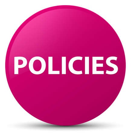 Policies isolated on pink round button abstract illustration