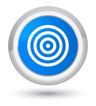 Target icon isolated on prime cyan blue round button abstract illustration