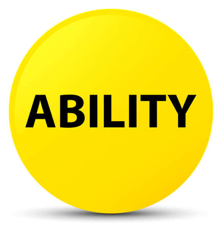 potential: Ability isolated on yellow round button abstract illustration Stock Photo