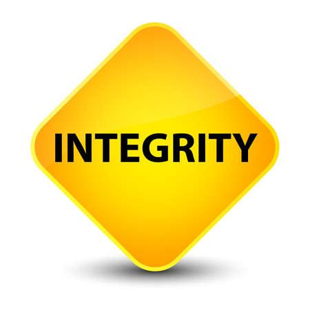 Integrity isolated on elegant yellow diamond button abstract illustration