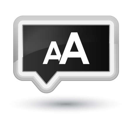 Font size icon isolated on prime black banner button abstract illustration Stock Photo