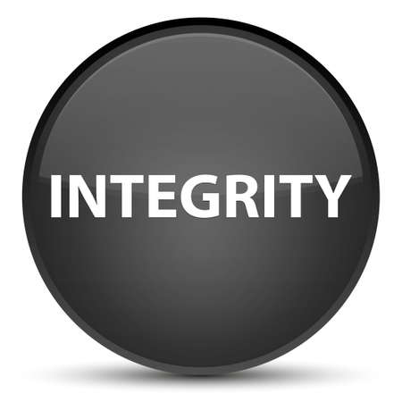 Integrity isolated on special black round button abstract illustration Stock Photo