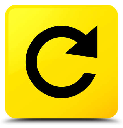 Reply rotate icon isolated on yellow square button abstract illustration