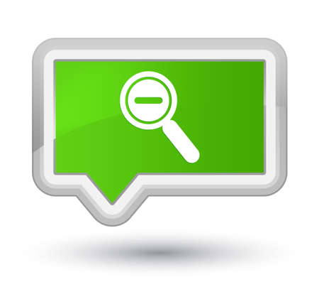 Zoom out icon isolated on prime soft green banner button abstract illustration