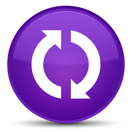 Update icon isolated on special purple round button abstract illustration