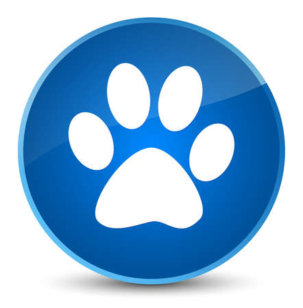 Animal footprint icon isolated on elegant blue round button abstract illustration
