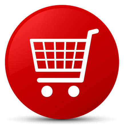 Ecommerce icon isolated on red round button abstract illustration
