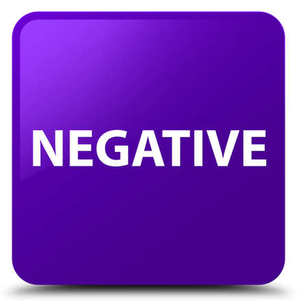 Negative isolated on purple square button abstract illustration