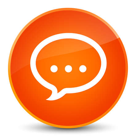 Talk icon isolated on elegant orange round button abstract illustration