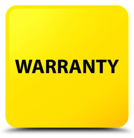 Warranty isolated on yellow square button abstract illustration Stock Photo