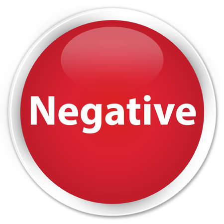 Negative isolated on premium red round button abstract illustration Stock Photo