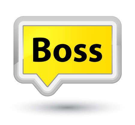 Boss isolated on prime yellow banner button abstract illustration