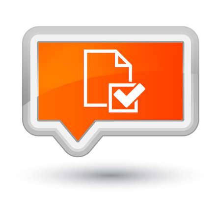 Checklist icon isolated on prime orange banner button abstract illustration Stock Photo