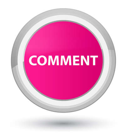 Comment isolated on prime pink round button abstract illustration