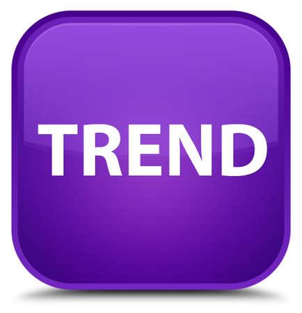 Trend isolated on special purple square button abstract illustration Stock Photo