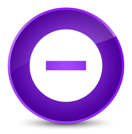Cancel icon isolated on elegant purple round button abstract illustration
