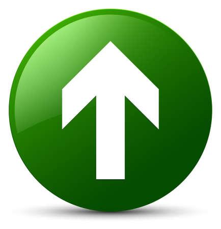 Upload arrow icon isolated on green round button abstract illustration Standard-Bild