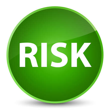 Risk isolated on elegant green round button abstract illustration Stock Photo