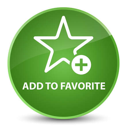 Add to favorite isolated on elegant soft green round button abstract illustration Stock Photo