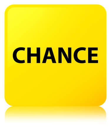 Chance isolated on yellow square button reflected abstract illustration