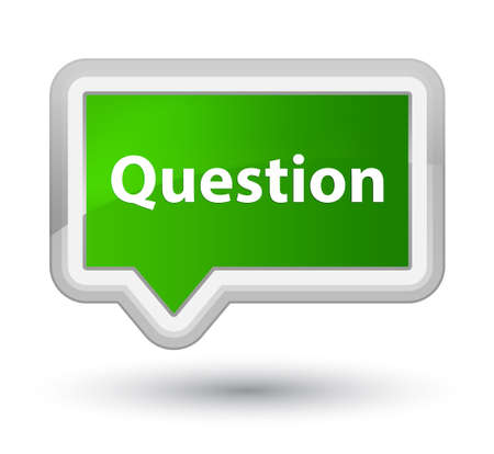 Question isolated on prime green banner button abstract illustration Stock Photo