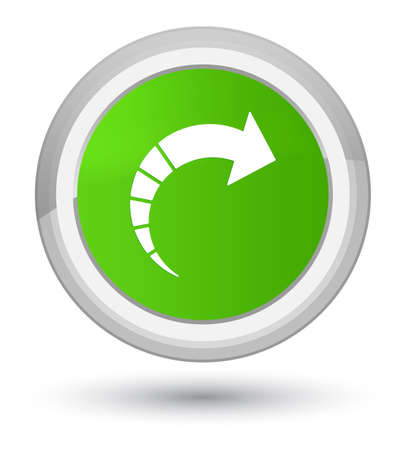 Next arrow icon isolated on prime soft green round button abstract illustration Stock Photo