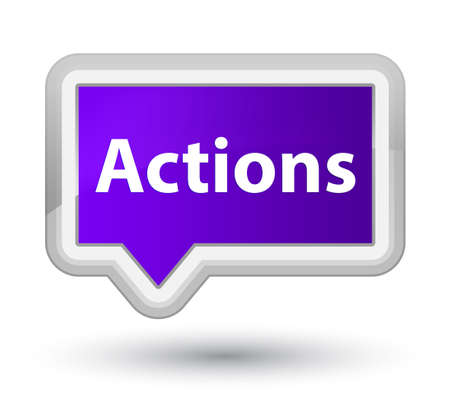 Actions isolated on prime purple banner button abstract illustration