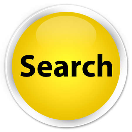 Search isolated on premium yellow round button abstract illustration