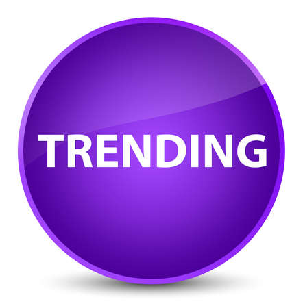 Trending isolated on elegant purple round button abstract illustration 스톡 콘텐츠