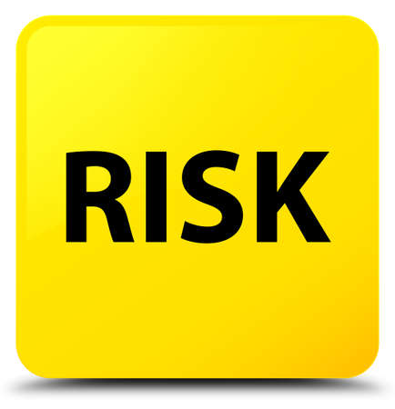 Risk isolated on yellow square button abstract illustration