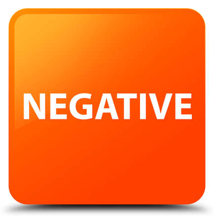 Negative isolated on orange square button abstract illustration