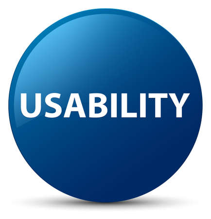 Usability isolated on blue round button abstract illustration