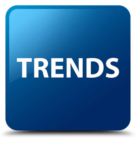 Trends isolated on blue square button abstract illustration Stok Fotoğraf