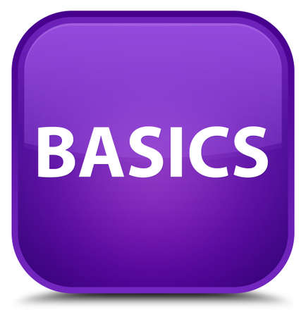 Basics isolated on special purple square button abstract illustration
