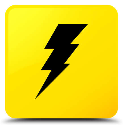 Electricity icon isolated on yellow square button abstract illustration