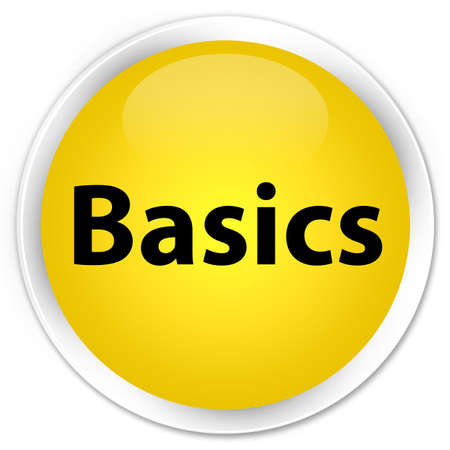 Basics isolated on premium yellow round button abstract illustration