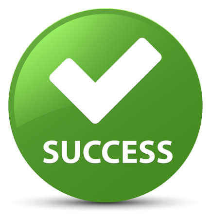 Success (validate icon) isolated on soft green round button abstract illustration