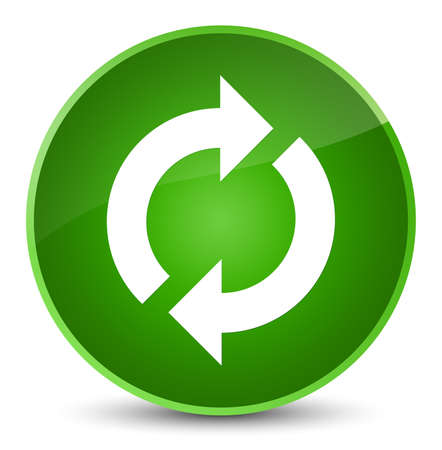 improving: Update icon isolated on elegant green round button abstract illustration
