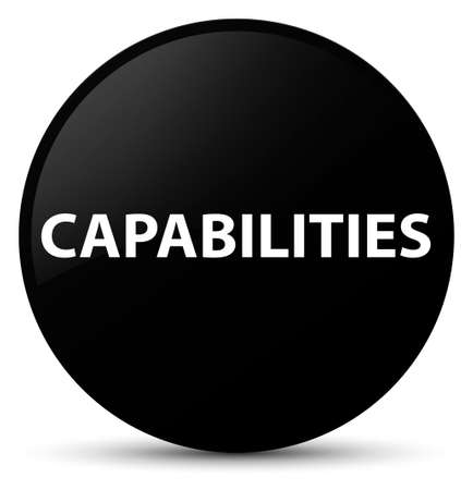 Capabilities isolated on black round button abstract illustration