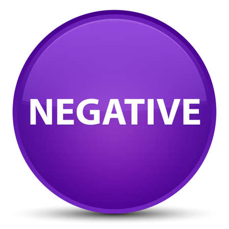 Negative isolated on special purple round button abstract illustration