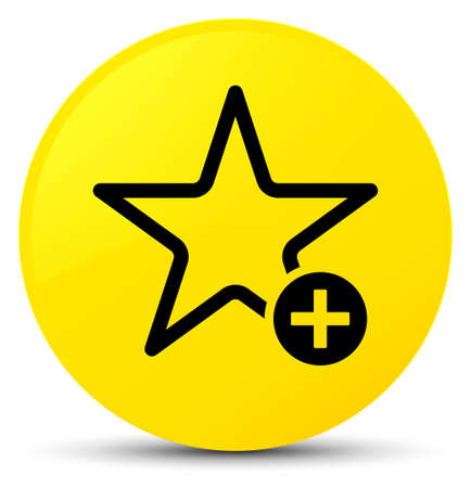 Add to favorite icon isolated on yellow round button abstract illustration