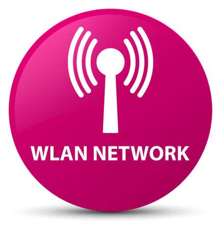 Réseau WLAN isolé sur illustration abstraite bouton rond rose Banque d'images - 89277839