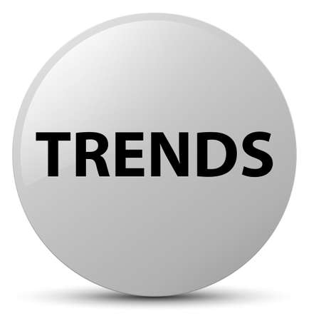 Trends isolated on white round button abstract illustration