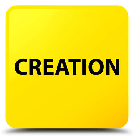Creation isolated on yellow square button abstract illustration