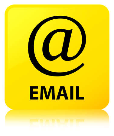 Email (address icon) isolated on yellow square button reflected abstract illustration