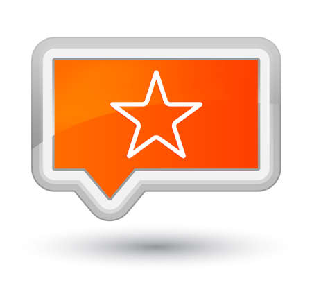 Star icon isolated on prime orange banner button abstract illustration Stock Photo