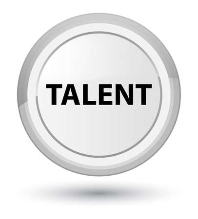 Talent isolated on prime white round button abstract illustration