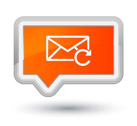 Refresh email icon isolated on prime orange banner button abstract illustration
