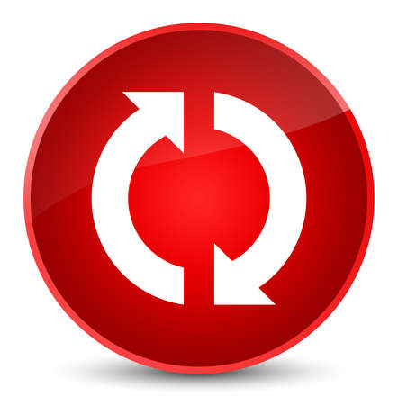 Update icon isolated on elegant red round button abstract illustration